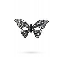 Маска нитяная Toyfa Theatre «Бабочка», черный