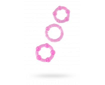 Набор колец 3шт., TOYFA, PVC, розовые