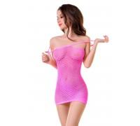 Платье-сетка Joli Malibu, розовый, S/M