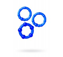Набор колец TOYFA A-toys, TPE, Синий, Ø 3,5/3/2 см